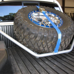 N-Fab Sliding Channel Tire Carrier 05-11 Toyota Tacoma - Gloss Black T051TR