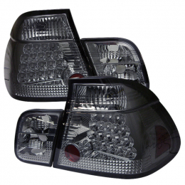 Spyder BMW E46 3-Series 99-01 4Dr LED Tail Lights Smoke ALT-YD-BE4699-4D-LED-SM 5000774