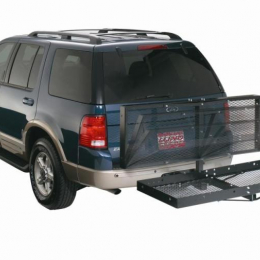 Lund Universal Folding Steel Cargo Carrier For 2in Hitch 21X61in - Black 601001