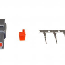 AEM DTM Style-2 Way Receptacle Connector Kit With 3 Male Pins 35-2619