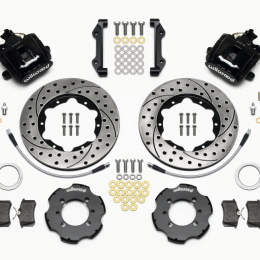 Wilwood Combination Parking Brake Rear Kit 11.00in Drilled 2012 Fiat 500 w/ Lines 140-12768-D