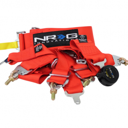 NRG FIA Approved 6PT 3in. Seat Belt Harness / Cam Lock - Red SBH-RS6PCRD