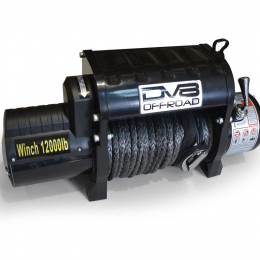 DV8 Offroad 12000 LB Winch w/ Synthetic Line & Wireless Remote - Black WB12SR