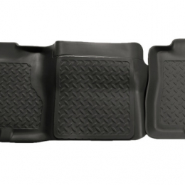 Husky Liners 02-06 Cadillac Escalade/GMC Yukon/Denali Classic Style 2nd Row Black Floor Liners 61451