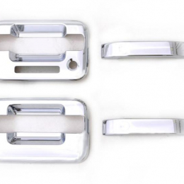 AVS 04-14 Ford F-150 (2 Door w/Keypad) Door Handle Covers (2 Door) 4pc Set - Chrome 685201