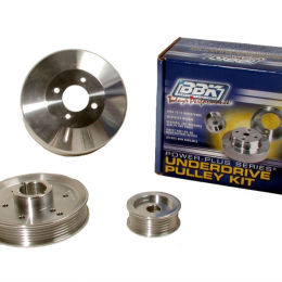 BBK 96-01 Mustang 4.6 GT Cobra Underdrive Pulley Kit - Lightweight CNC Billet Aluminum (3pc) 1555