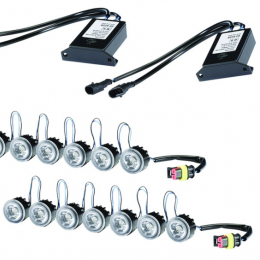 Hella LEDayFLex Daytime Running Lights (7 Lamp Kit) 010458851