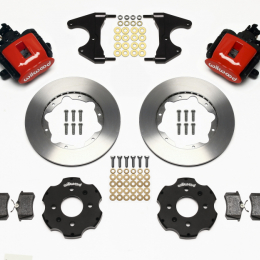 Wilwood Combination Parking Brake Rear Kit 11.00in Red Civic / Integra Drum 2.46 Hub Offset 140-10208-R