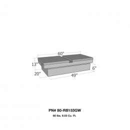 Westin/Brute Gull Wing Lid Full Size Step Side & Down Size Shallow Depth - Aluminum 80-RB153GW