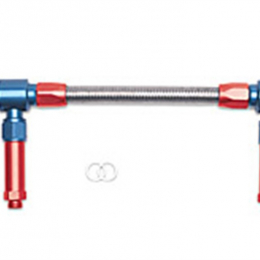 Russell Performance -8 AN to -8 AN ProFlex Holley 4150 Dual Inlet Carb Kit (Red/Blue) 641150
