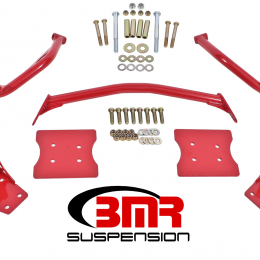 BMR 79-04 Fox Mustang Torque Box Reinforcement Plate Kit(TBR005R And TBR003R) - Red TBR004R