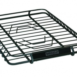 Lund Universal 39in X 45.125in Roof Rack Cargo Basket - Black 601011