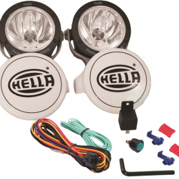 Hella Rallye 4000X Halogen Driving Lamp Kit (Includes 2 lamps/shields/bulbs) 010186911