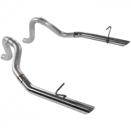 Flowmaster 87-93 Mustang Prebent Tailpipes - 2.50 In. Rear Exit W/Stainless Tips (Pair) 15814