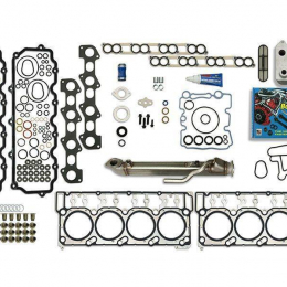 Sinister Diesel Complete Solution w/ EGR Cooler (Square) 18MM Ford Gaskets Heads Up Kit SD-CS-6.0-EGRC-SC-18-HU