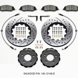 Wilwood Pro-Matrix Front Kit Drilled 05-12 Mustang GT (2pc Hat/Rtr) 140-12148-D