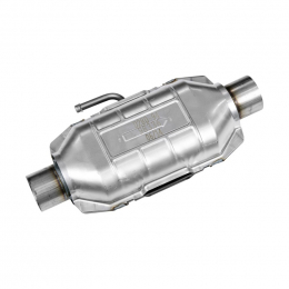 Flowmaster Universal Pre-OBDII Catalytic Converter SS - 2.5in. In/Out 16in. Length w/Air Tube 98336
