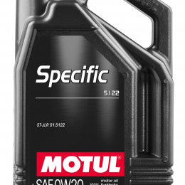 Motul 5L OEM Synthetic Engine Oil ACEA A1/B1 Specific 5122 0W20 4x5L 107339