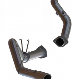 MBRP 2015 Ford F250/350/450 6.7L 4in Single Side Exit Al Steel Exhaust w/ Down Pipe Includes 5in Tip S6286AL