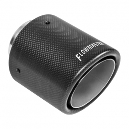 Flowmaster Exhaust Tip - 4.00in Angle Rolled Carbon Fiber/304 SS Fits 2.50in Tubing (Weld On) 15400