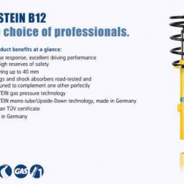 Bilstein B12 2004 Audi A4 Quattro Avant Front and Rear Suspension Kit 46-188564