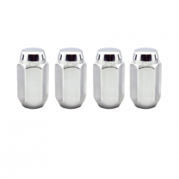 McGard Hex Lug Nut (Cone Seat) M12X1.75 / 13/16 Hex / 1.815in. Length (4-Pack) - Chrome 64019