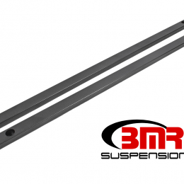 BMR 15-17 S550 Mustang Super Low Profile Chassis Jacking Rails - Black Hammertone CJR002H