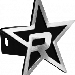 RBP Black Star Hitch Cover - Brushed 5in. Star (For 2in. Hitch Receivers Only) RBP-7504-RX3