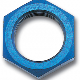 Russell Performance -4 AN Bulkhead Nuts 7/16in -20 Thread Size (Blue) 661880