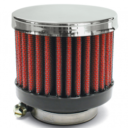 Airaid Chrome Top 1.25in OD - Screw On 3in OD 2.5in Tall Breather Filter 775-495