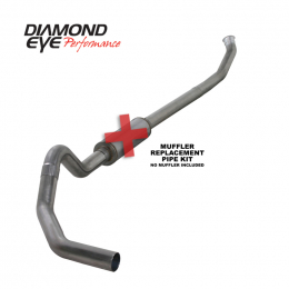 Diamond Eye KIT 4in TB MFLR RPLCMENT PIPE OFF-RD SGL SS: 2004.5-2007.5 DODGE NFS W/ CARB EQUIV STDS K4235S-RP