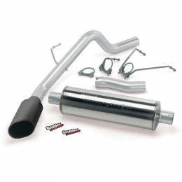Banks Power 03 Dodge 5.7L Hemi 1500-CCSB Monster Exhaust System - SS Single Exhaust w/ Black Tip 48569-B