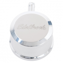 Edelbrock PCV for Valve Cover Aluminum Round Push In w/ 90-Degree Port Breather Look w/ Etched Logo 4407