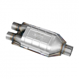Flowmaster Universal OBDII Catalytic Converter SS - 2.0in. Dual In / 2.5in. Out / 17in. Length 912013