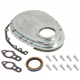 Spectre SB Chevrolet Timing Chain Cover - Polished Aluminum 4935