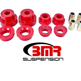 BMR 10-15 5th Gen Camaro Rear Cradle Pro Version Full Bushing Kit (Polyurethane) - Red BK024