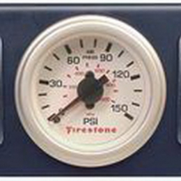 Firestone Air Adjustable Leveling Electric Control Panel w/Dual Gauge 0-150psi - White (WR17602260) 2260