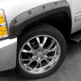 Lund 15-17 GMC Canyon (5ft. Bed) RX-Rivet Style Textured Elite Series Fender Flares - Black (4 Pc.) RX128T