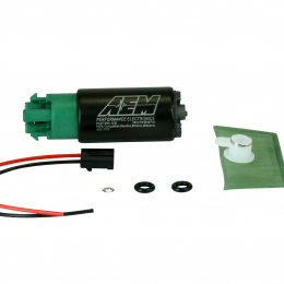 AEM 320LPH 65mm Fuel Pump Kit w/ Mounting Hooks - Ethanol Compatible 50-1215