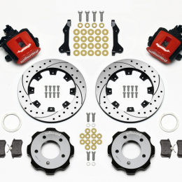 Wilwood Combination Parking Brake Rear Kit 12.19in Drilled Red 2006-Up Civic / CRZ 140-11979-DR