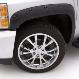 Lund 16-17 Chevy Silverado 1500 RX-Rivet Style Smooth Elite Series Fender Flares - Black (4 Pc.) RX111-2S