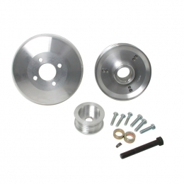 BBK 97-04 Ford F150 Expedition 4.6 5.4 Underdrive Pulley Kit - Lightweight CNC Billet Aluminum (3pc) 15550