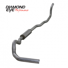 Diamond Eye KIT 4in TB SGL AL: 4-WHEEL DRIVE ONLY 89-93 DODGE CUMMINS 5.9L K4211A