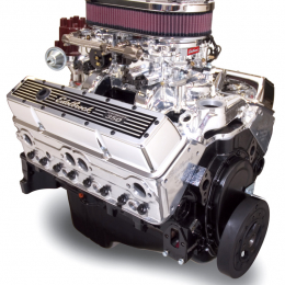 Edelbrock Crate Engine Edelbrock 9 0 1 Performer w/ Dual Quads and Air Cleaner w/ Long Water Pump 45024