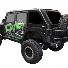 DV8 Offroad 07-18 Jeep Wrangler JK 1 Piece Fast Back Hard Top 4 Door HT07FB41