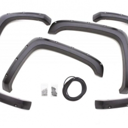 Lund 10-17 Dodge Ram 2500 RX-Rivet Style Textured Elite Series Fender Flares - Black (4 Pc.) RX205T
