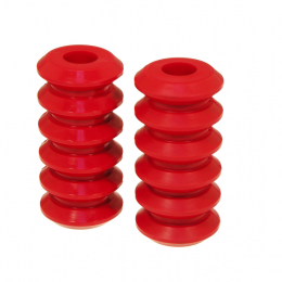 Prothane Universal Coil Spring Inserts - 7.5in High - Red 19-1704