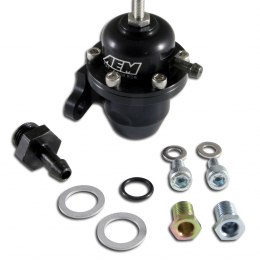 AEM 98-99 Acura CL / 00-05 S2000 / 98-02 Accord / 96-00 Civic Black Adjustable Fuel Pressure Regulat 25-301BK