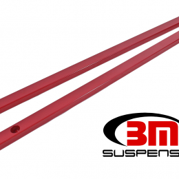 BMR 15-17 S550 Mustang Super Low Profile Chassis Jacking Rails - Red CJR002R
