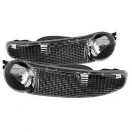Xtune GMC Sierra Denali 00-06 Bumper Lights Black CBL-GD00-BK 9027079